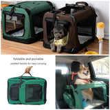 Foldable Pet Carrier Bag Soft Dog Crate Bed Cage Kennel Tent Indoor Outdoor Car