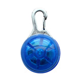 Pet Dog Flashing Light Pendant Safety Night Walking Keyring Warning Anti-Lose