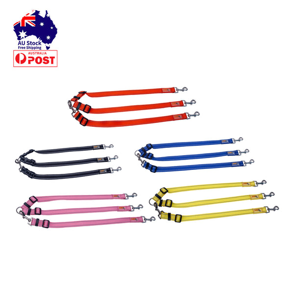 2/3 Way Dog Leash Pet Lead Adjustable Dogs Walking No Tangle Training Reflective