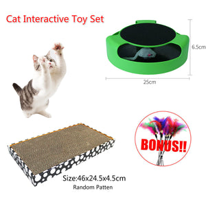 Cat Toys Gift Box Interactive Toy Scratching Cardboard Scratcher Catch The Mouse