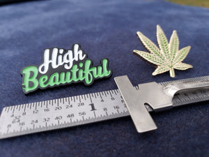 HIGH BEAUTIFUL AND LEAF PIN - TWO PACK