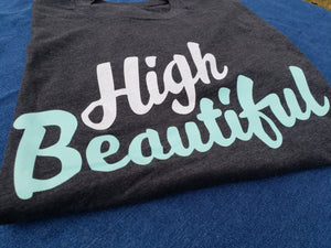 GREY HIGH BEAUTIFUL TEE