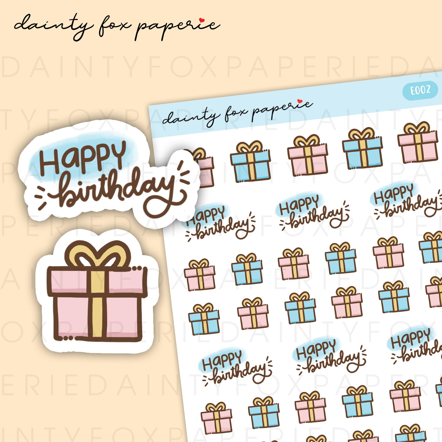 Load Image Into Gallery Viewer Happy Birthday Gift Stickers
