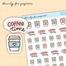 Load image into Gallery viewer, Coffee Time Stickers | E003