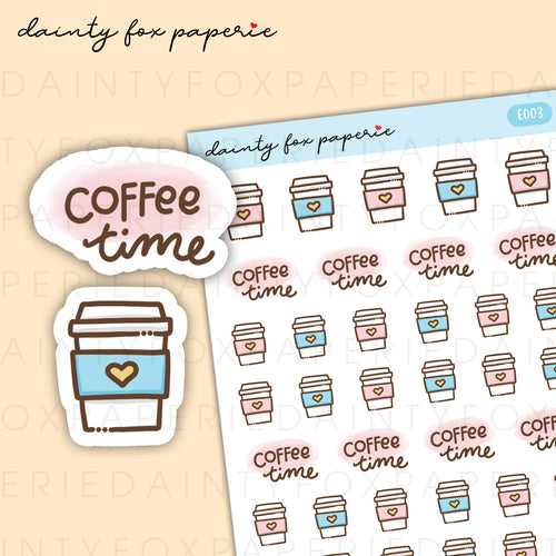 Coffee Time Stickers | E003