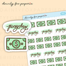 Load image into Gallery viewer, Money, Payday Stickers | E005