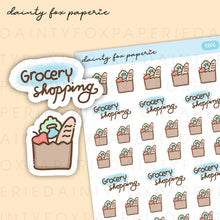 Load image into Gallery viewer, Market, Grocery Shopping Stickers | E006