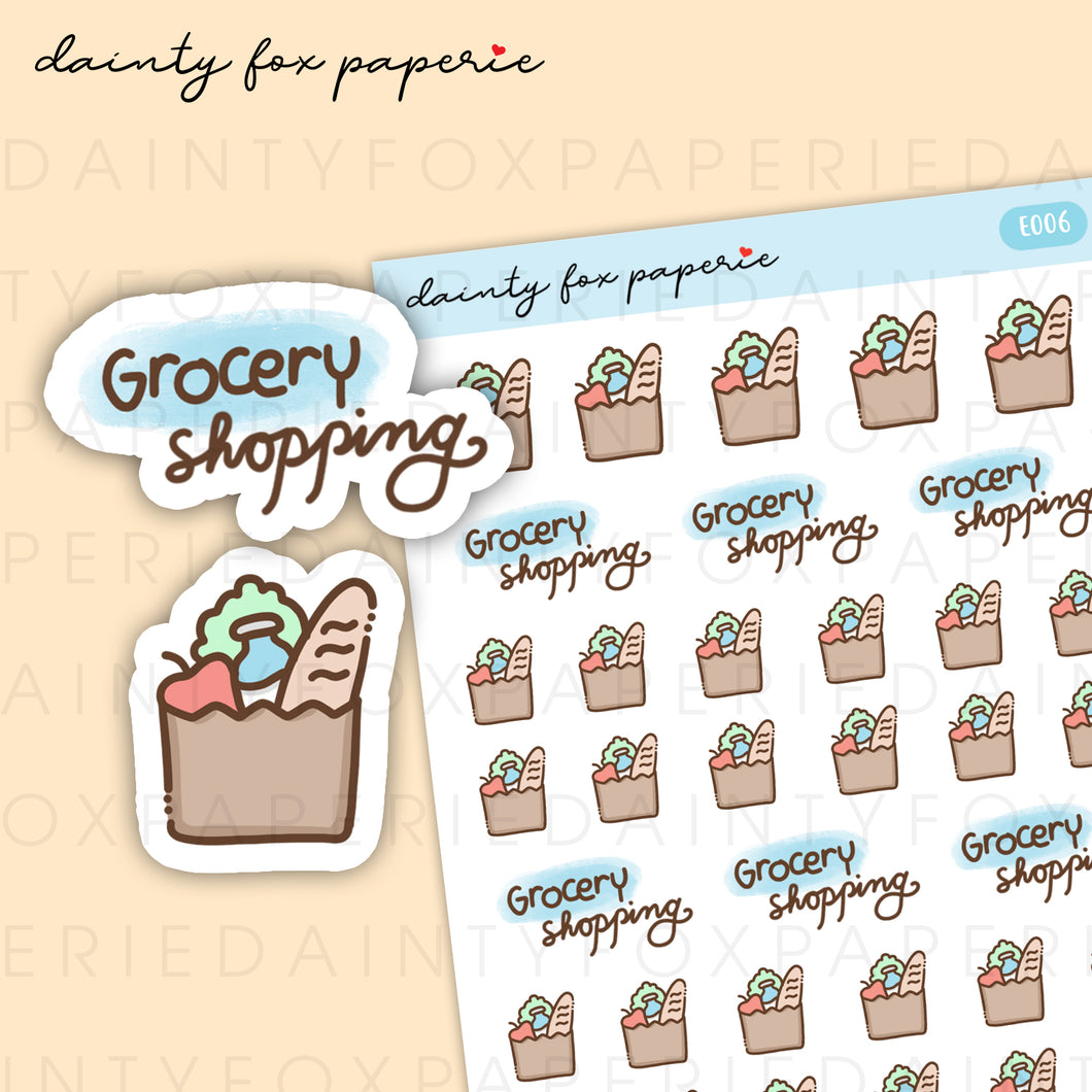 Market, Grocery Shopping Stickers | E006