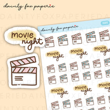 Load image into Gallery viewer, Watch a Film, Movie Night Stickers | E008