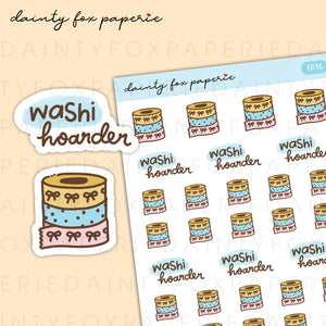 Washi Tape Washi Hoarder Stickers | E016