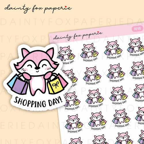 Shopping Day Fifi Stickers | F018