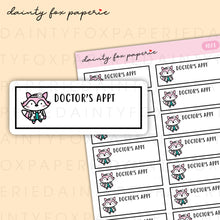 Load image into Gallery viewer, Doctor's Appointment Fifi Stickers | F023