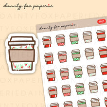 Load image into Gallery viewer, Christmas Coffee Cup Stickers | S001
