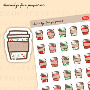 Christmas Coffee Cup Stickers | S001