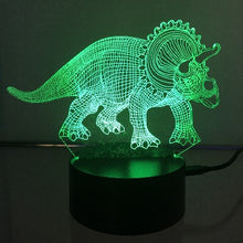Load image into Gallery viewer, Triceratops Dinosaur 3D Lights