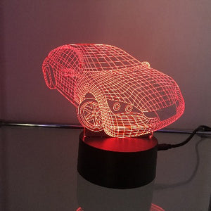 Sports Car 3D Light