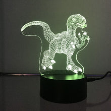 Load image into Gallery viewer, Raptor Dinosaur 3D Lights
