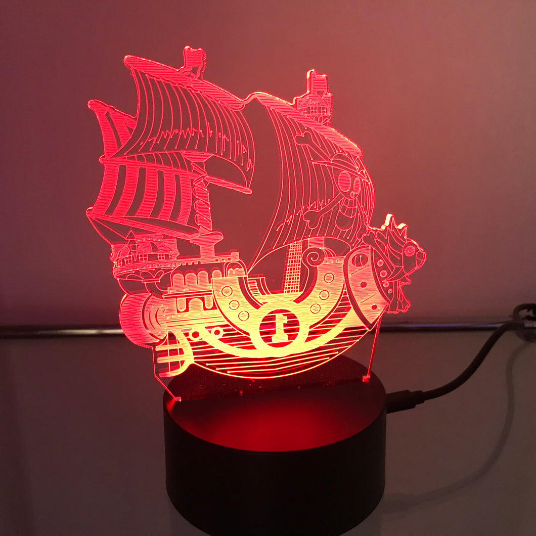One Piece Pirate Ship 3D Light