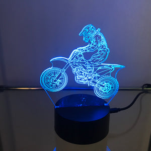 Motor Cross 3D Light