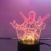 Load image into Gallery viewer, Deadpool 3D Lights
