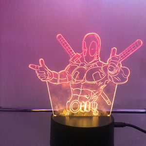 Deadpool 3D Lights