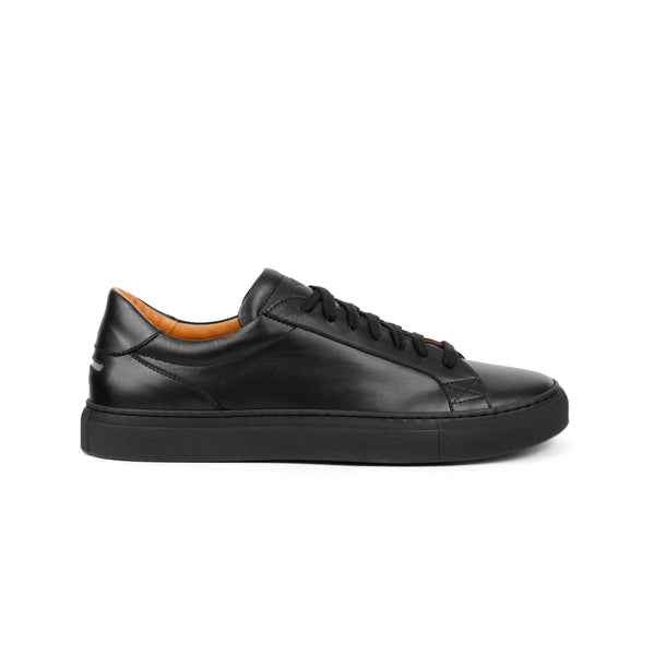 Helier Tonal Leather Black