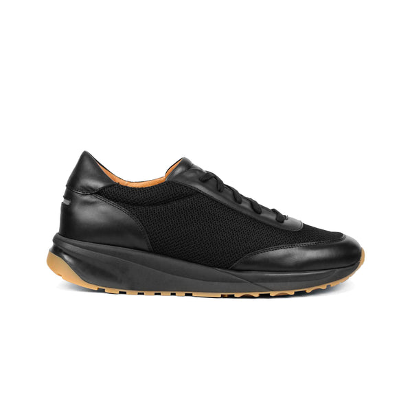 Trinity Leather Mesh Black