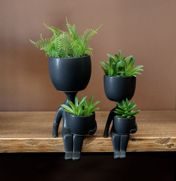 Mini Man Sitting Planter