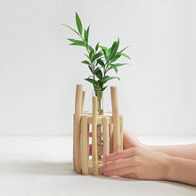 Single Vase in Bamboo Stand