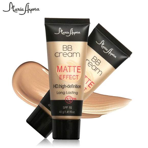Bases Whitening Cream Make Up Sun Block SPF15 Long Lasting Natural Concealer Matte Liquid Face Makeup Foundation BB Cream