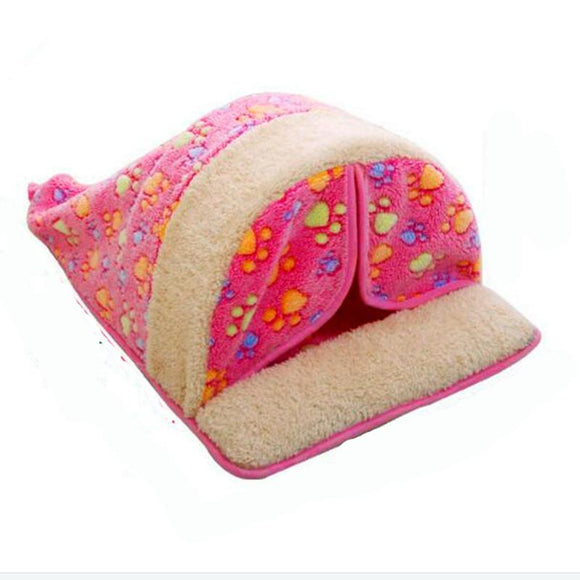 Pet Dog Bed washable Warming Dog House Soft Material Pet Nest all seasons Nest Kennel For Cat Puppy cat nest with curtain