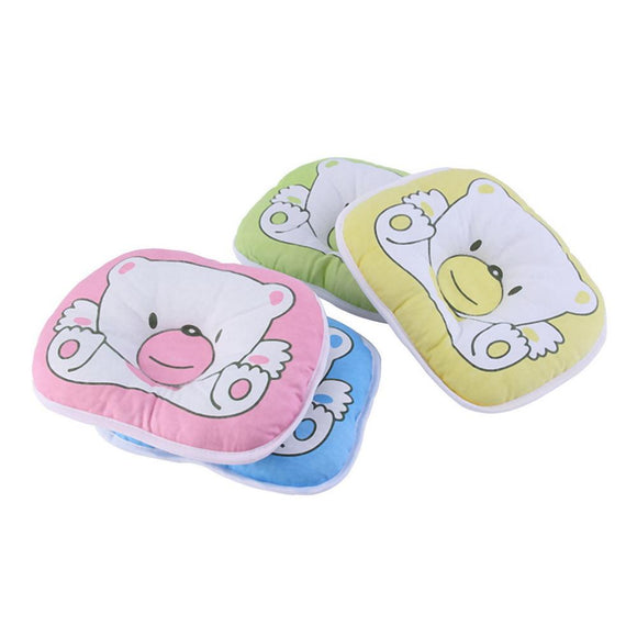 1 PCS Newborn Infant Soft Neck Support Print Bear Head Shape Baby Shaping Pillow 100% Top Good
