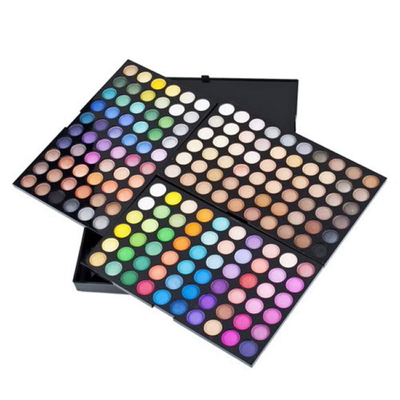 180 Colors 3 layers Professional Eye Shadow Palette Glitter Shimmer Matte Eyeshadow Make up Pallete Beauty Women Cosmetics Tools