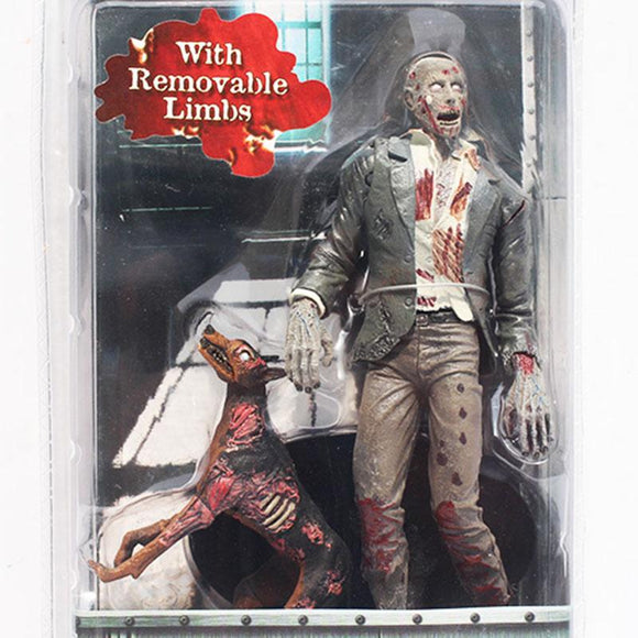 NECA Official Resident Evil 10th Anniversary Zombie Action Figure Toy With Removeable Limbs PVC Doll 7 Inch 18cm
