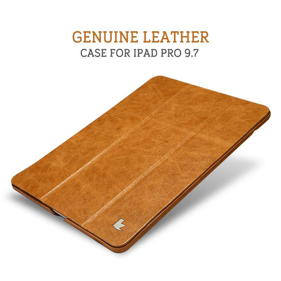 Jisoncase Smart Case for iPad Pro 9.7 Case Cover Genuine Leather Luxury Magnetic Tablet Smart Cover for Apple iPad Pro 9.7 inch