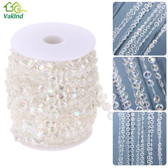 99FT 30M Acrylic Diamond Bead Curtain DIY Garland Wedding Party Decoration Crystal Wedding Accessories Home Curtain Ornaments