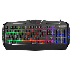 2016 Wired Mini Keyboard K3 USB Wired Illuminated Colorful LED Backlight Multimedia PC Gaming Keyboard