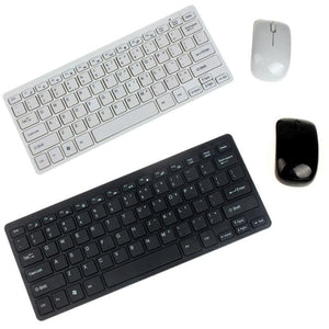 High Quality Luxury Ultra Slim Mini 2.4G Wireless Keyboard Mouse Kit For PC Laptop
