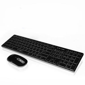 2017 Family Computer Games Mini Wireless Keyboard Mouse Combo Set Wireless Suit Keyboard+1600DPI Gaming Mouse#20