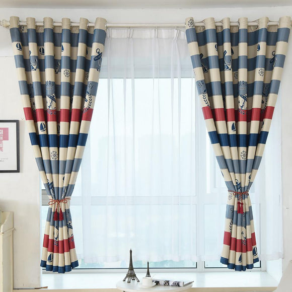 Love Tree Print Shading Curtain Door Window Curtain Drape Panel  Valances cortinas para sala de estar