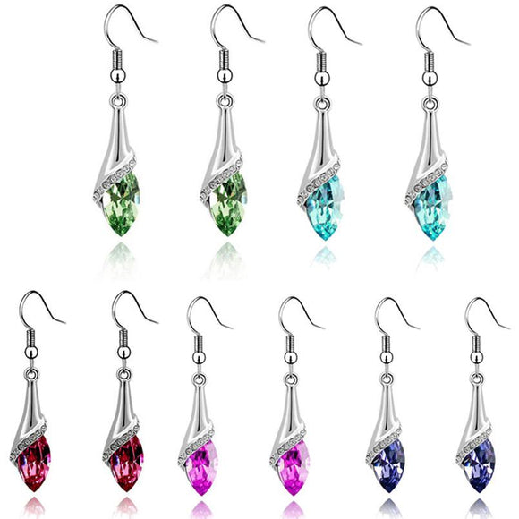1 Pair big earrings for women Lady Crystal Marquise Cut  Dangle Earrings Wedding Teardrop Earrings Gift