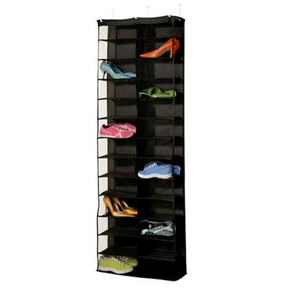 Foldable Shoes Storage Bag 26 Pockets Closet Hanging Shoes Bags Save Space Organizer Underpants Storage Bag Home Organzier