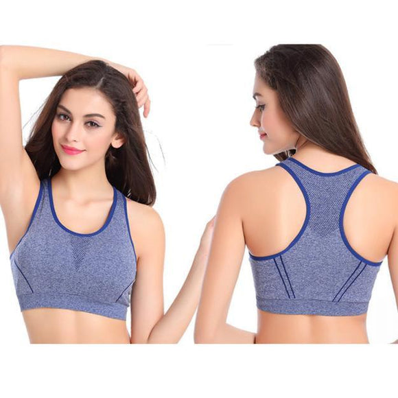 Women Fitness Yoga Sports Bra For Running Gym Padded Underwear Push Up Bras