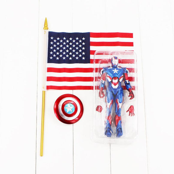 Hot selling 20cm Iron Man 3 Iron Patriot Action PVC Figure Toy