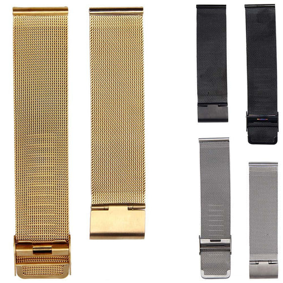 Hot Sale Mesh Stainless Steel Watch Strap 18mm 20mm 22mm 24mm Buckle Wrist Watch Band For Women Men Watch watchbands &20