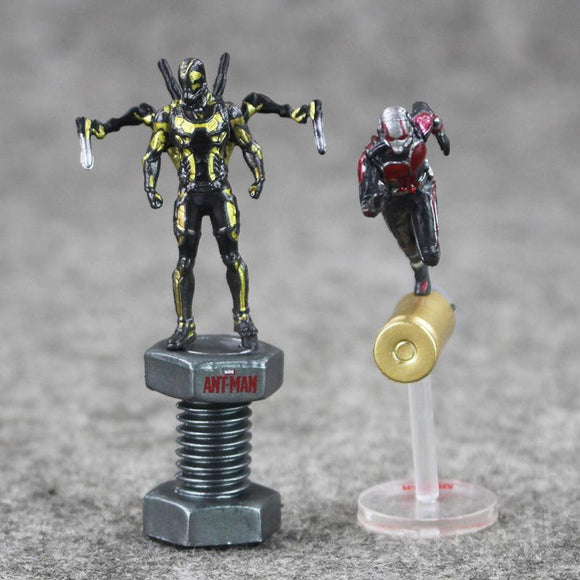 New arrival 2pcs/lot Anime Figures Ant Man Hornets Warrior Action Fugires Doll Model Toy