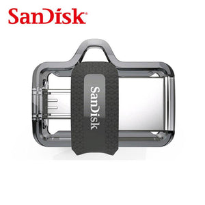 Sandisk Extreme Dual OTG USB Flash Drive 128GB high speed  150MB/S PenDrives USB3.0  SDDD3 For Smartphones,Tablets,PC,Mac