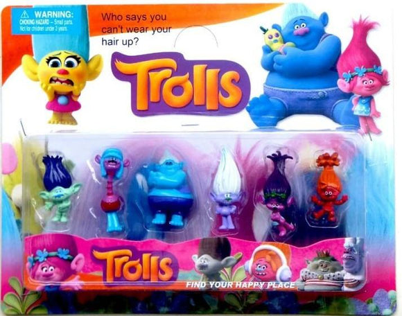 New Style 5cm Movie Trolls Poppy DJ Suki Guy Diamond Cooper Branch Critter Skitter Boards PVC Action Figures Toy