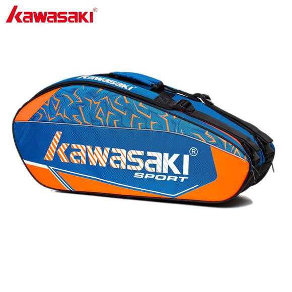 Kawasaki Professional Badminton Sports Bag Backpack Tennis Racket Bag Two Layer For 3~6 Rackets with Separate Shoes Bag KBB-8672