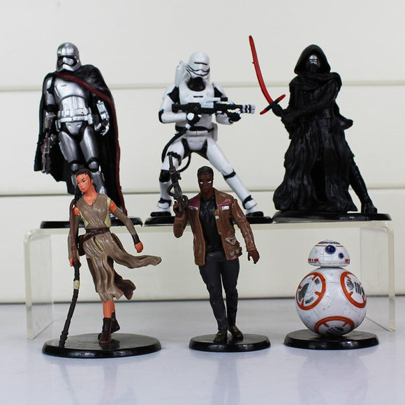 6Pcs/Set Star Wars PVC Action Figures Toy Darth Maul Stormtrooper Luke Skywalker Vader collectibles Model Dolls 5.5~11cm